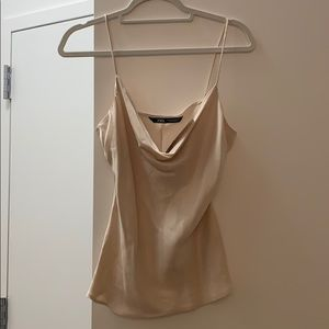 Zara silk tank top